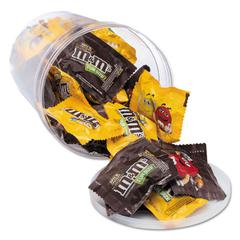 Candy Tubs, Chocolate and Peanut M&Ms, 1.75 lb Resealable Plastic Tub