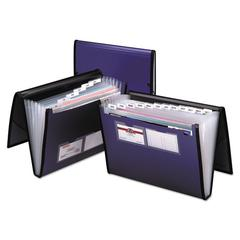 Professional Expanding Organizer, 7 Sections, Letter Size, Blue