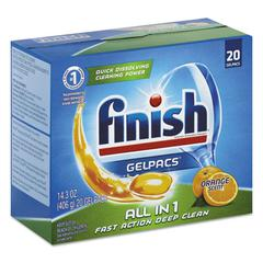 Dish Detergent Gelpacs, Orange Scent, 20 Gelpacs/Box, 8 Boxes/Carton