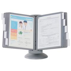 SHERPA Motion Desk Reference System, 10 Panels, Gray Borders