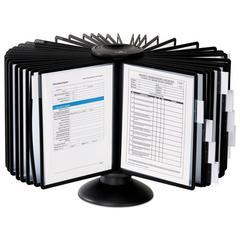 Sherpa 40-Panel Carousel Reference System, 80 Sheet Capacity, Black
