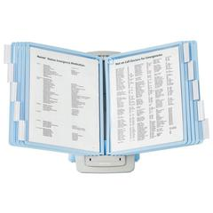 SHERPA Style Desk Reference System, 20 Sheet Capacity, Blue/Gray