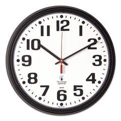 """Bold Quartz Contract Clock, 13-3/4"""", Black"""