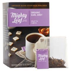 Whole Leaf Tea Pouches, Organic Earl Grey, 15/Box