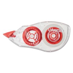 """Correction Tape with Two-Way Dispenser, Non-Refillable, 1/5"""" x 315"""", 2/Pack"""