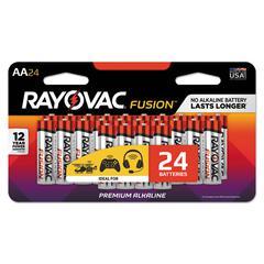 Fusion Advanced Alkaline Batteries, AA, 24/Pack
