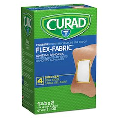 Flex Fabric Bandages, Fingertip, 100/Box