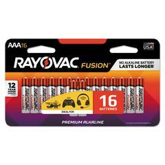 Fusion Advanced Alkaline Batteries, AAA, 16/Pack