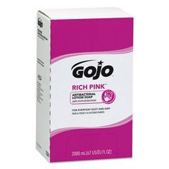 RICH PINK Antibacterial Lotion Soap Refill, 2000mL, Pink, 4/Carton