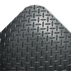 Crown Industrial Deck Plate Anti-Fatigue Mat, Vinyl, 24 x 36, Black