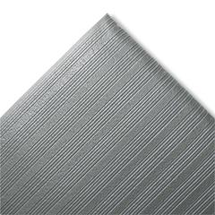 Ribbed Anti-Fatigue Mat, Vinyl, 27 x 36, Gray