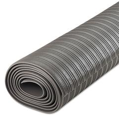 Crown Ribbed Anti-Fatigue Mat, Vinyl, 36 x 120, Gray