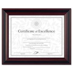 Desk/Wall Photo Frame, Plastic, 8 1/2 x 11, Rosewood/Black