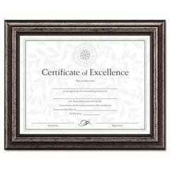 Document Frame, Desk/Wall, Wood, 8-1/2 x 11, Antique Charcoal Brushed Finish
