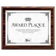 Award Plaque, Wood/Acrylic Frame, Up to 8 1/2 x 11, Walnut