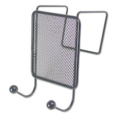 Wire Mesh Partition Coat Hook, 4 1/8 x 6, Black