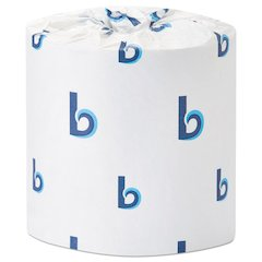 Deluxe Bath Tissue, 2-Ply, White, 400 Sheets/Roll, 96/Carton