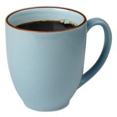 Bistro Mugs, 15 oz, Slate Blue, Ceramic, 6 per box