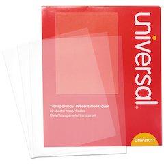 Transparent Sheets, B&W Laser/Copier, Letter, Clear, 50/Pack