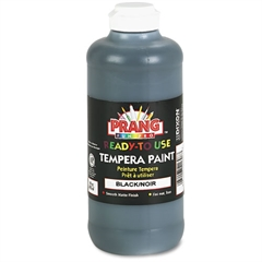 Prang Ready-to-Use Tempera Paint, Black, 16 oz