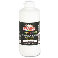 Ready-to-Use Tempera Paint, White, 16 oz