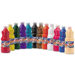 Ready-to-Use Tempera Paint, 12 Assorted Colors, 16 oz, 12/Pack