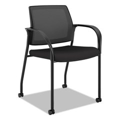 Ignition 2.0 Ilira-Stretch Mesh Back Mobile Stacking Chair, Black Fabric