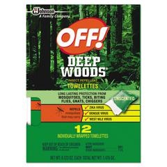 Deep Woods Towelette, 0.28 Box, Unscented, 12/Box