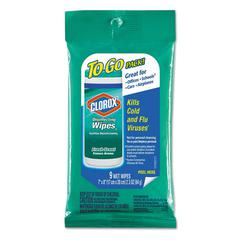 Disinfecting Wipes To Go, 7 x 8, Fresh Scent, 9/Pack, 24 Packs/Carton