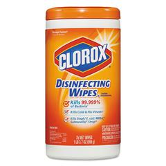 Disinfecting Wipes, Orange Fusion, 7 x 8, 75/Canister, 6 Canisters/Carton