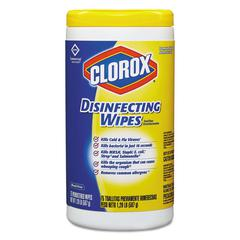 Disinfecting Wipes, 7 x 8, Lemon Fresh, 75/Canister, 6/Carton