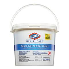 Bleach Germicidal Wipes, 12 x 12, Unscented, 110/Canister