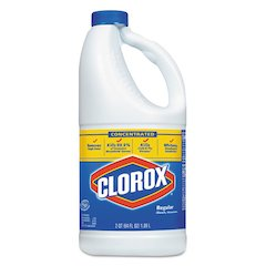 Concentrated Regular Bleach, 64oz Bottle, 8/Carton