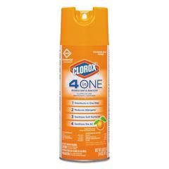4-in-One Disinfectant & Sanitizer, Citrus, 14oz Aerosol, 12/Carton