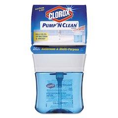 Pump 'N Clean Bathroom  & Multi-Purpose Cleaner, Rain Clean, 12 oz Pump, 6/CT
