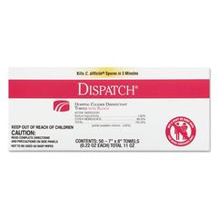 Dispatch Cleaner Disinfectant Towels with Bleach, 7 x 8, 50/Box, 6 Boxes/Carton