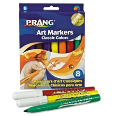 Classic Art Markers, Conical Tip, 8 Assorted Colors, 8/Set