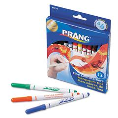 Prang Prang Markers, Fine Point, 12 Assorted Colors, 12/Set