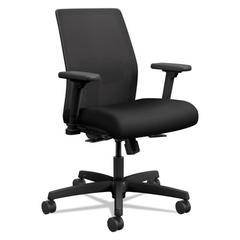 Ignition 2.0 Ilira-Stretch Low-Back Mesh Task Chair, Black Fabric Upholstery