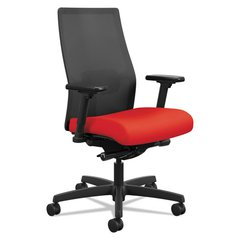 Ignition 2.0 Ilira-Stretch Mid-Back Mesh Task Chair, Ruby Fabric Upholstery