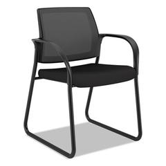 Ignition 2.0 Ilira-Stretch Mesh Back Guest Chair, Sled Base, Black Fabric