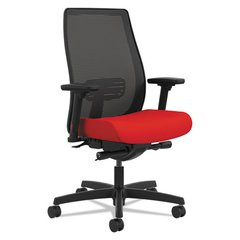 Endorse Mesh Mid-Back Work Chair, Ruby