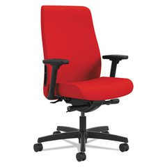 Endorse Upholstered Mid-Back Work Chair, Ruby