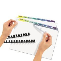 Print & Apply Clear Label Unpunched Dividers, 8-Tab, Ltr, 25 Sets