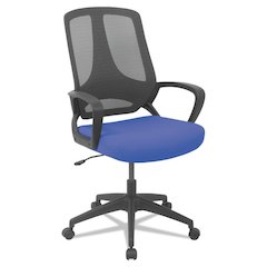 MB Series Mesh Mid-Back Office Chair, Blue/Black