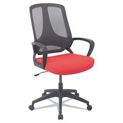 MB Series Mesh Mid-Back Office Chair, Red/Black