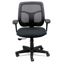 Apollo Mid-Back Mesh Chair, Black Seat/Black Back