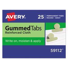 Gummed Index Tabs, 1/2 in, Gray, 25/Pack