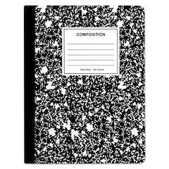 Quad Rule Composition Book., Quadrille Rule, 7.5 x 9.75, 1 Subject, Black, 6/PK