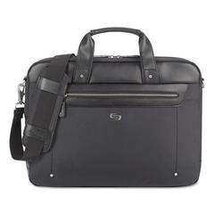 "Irving Briefcase, 16.54"" x 2.36"" x 13.39"", Polyester, Black"
